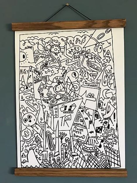 Table robot original print - Hand signed